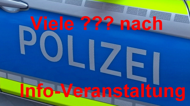 Polizeifoto mit 3 Fragezeichen